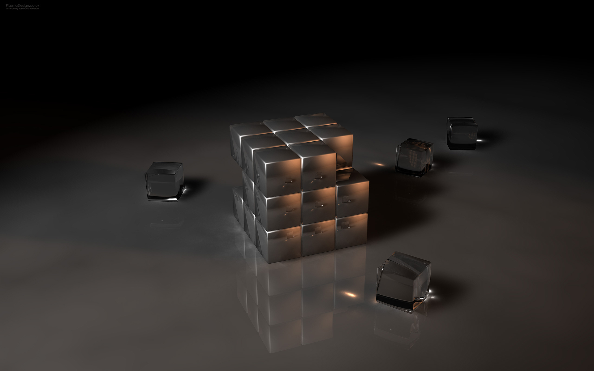 3d Dark Gothic Cube