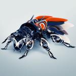 bee robot blue