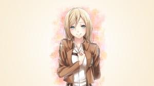 blonde anime girl smile