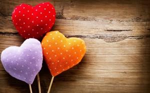 colorful hearts love
