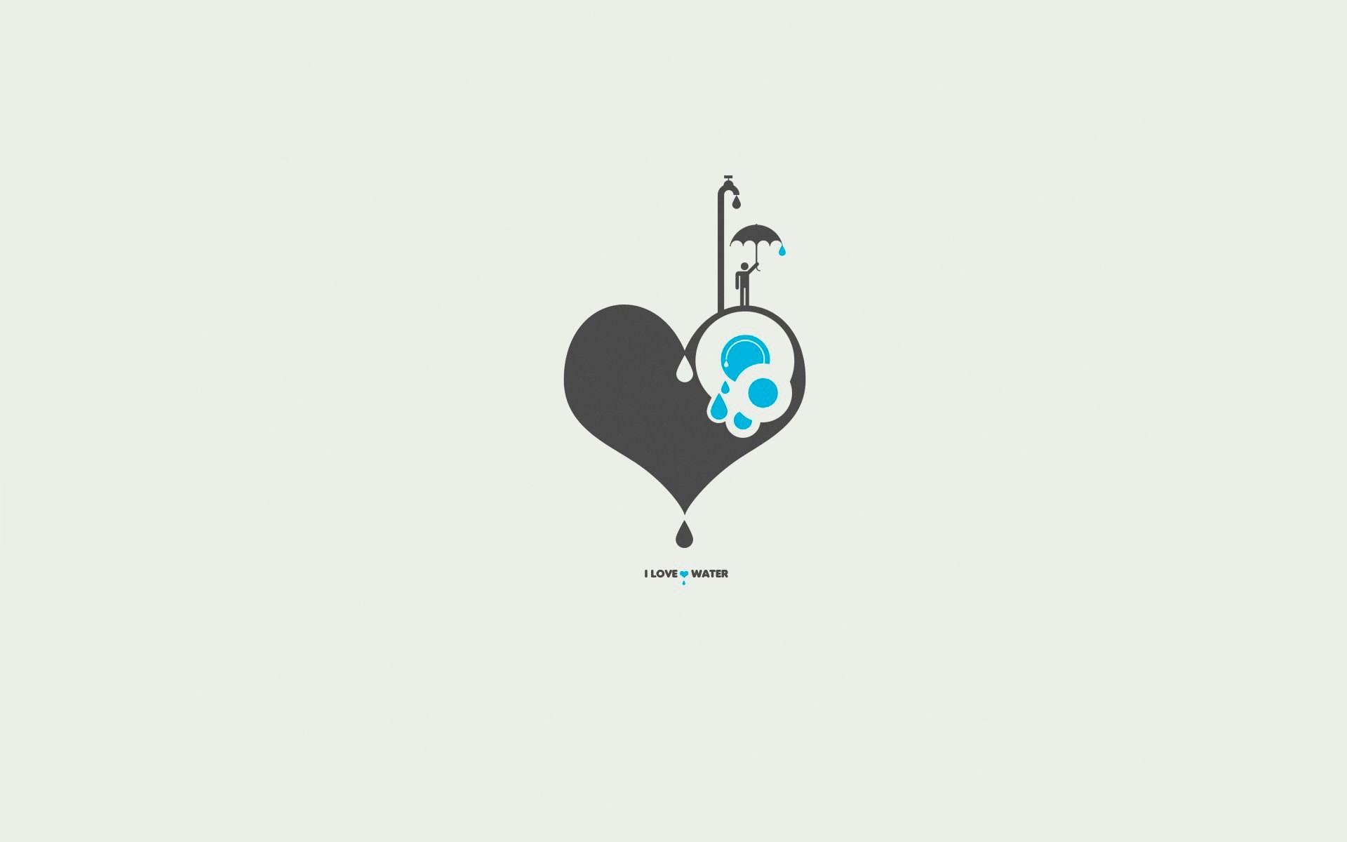 I love water heart