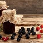 jam jars berries grapes blackberries raspberries currants