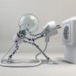 robot woman lamp x