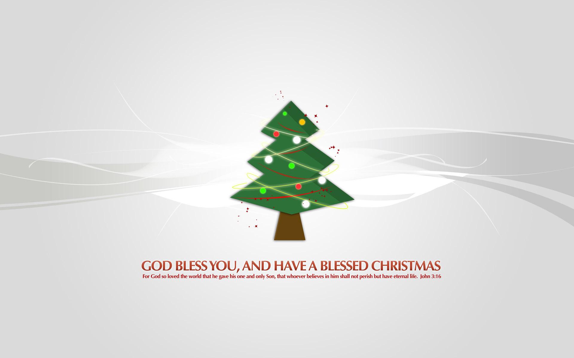 Christmas Tree God Bless You