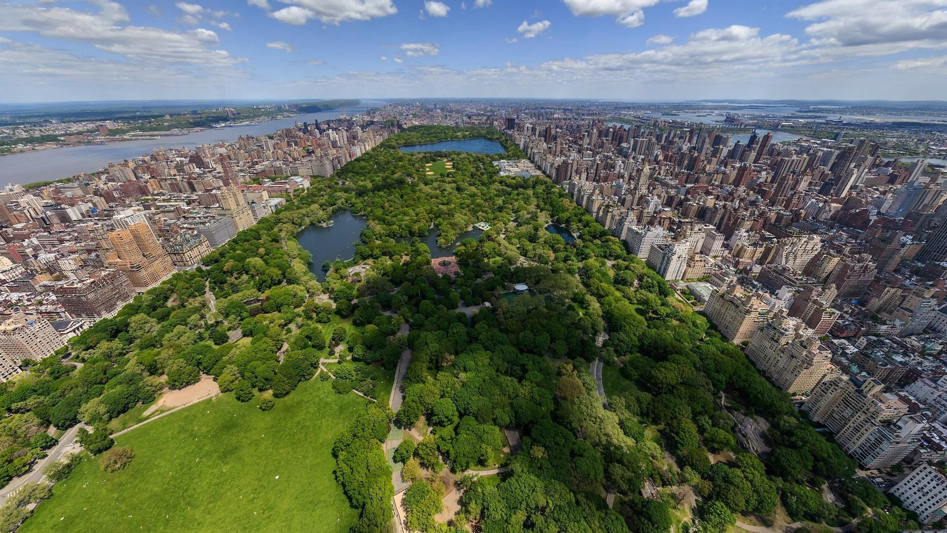 Gorgeous panorama of central park