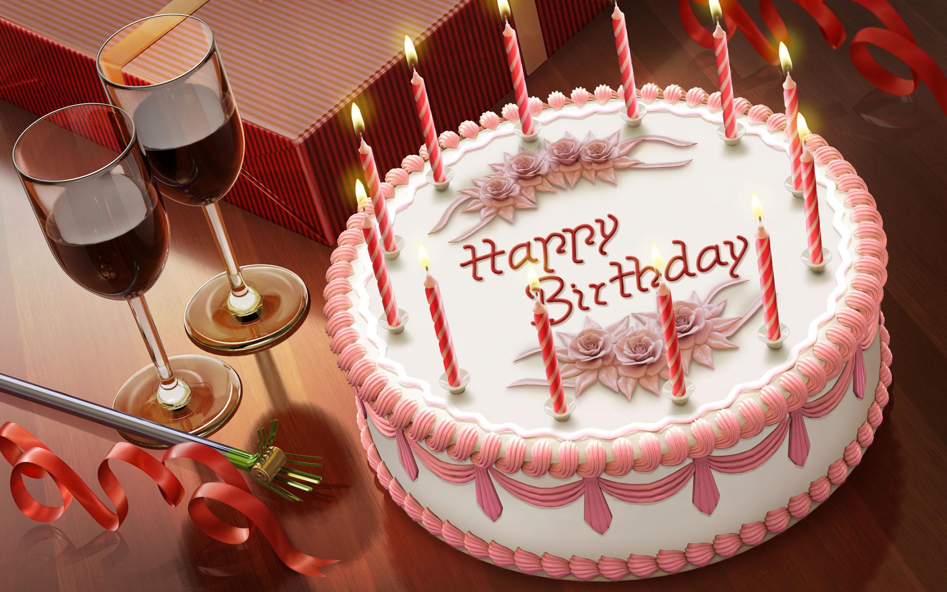 Happy Birthday Cake Widescreen