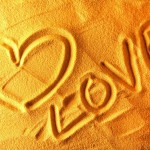 Love in sand 2014 valentines day