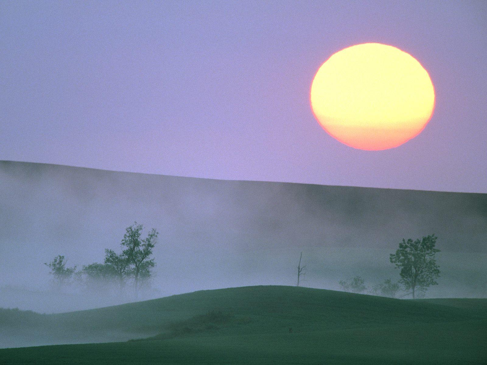Misty Sunrise, North Dakota