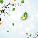 Summer white flowers