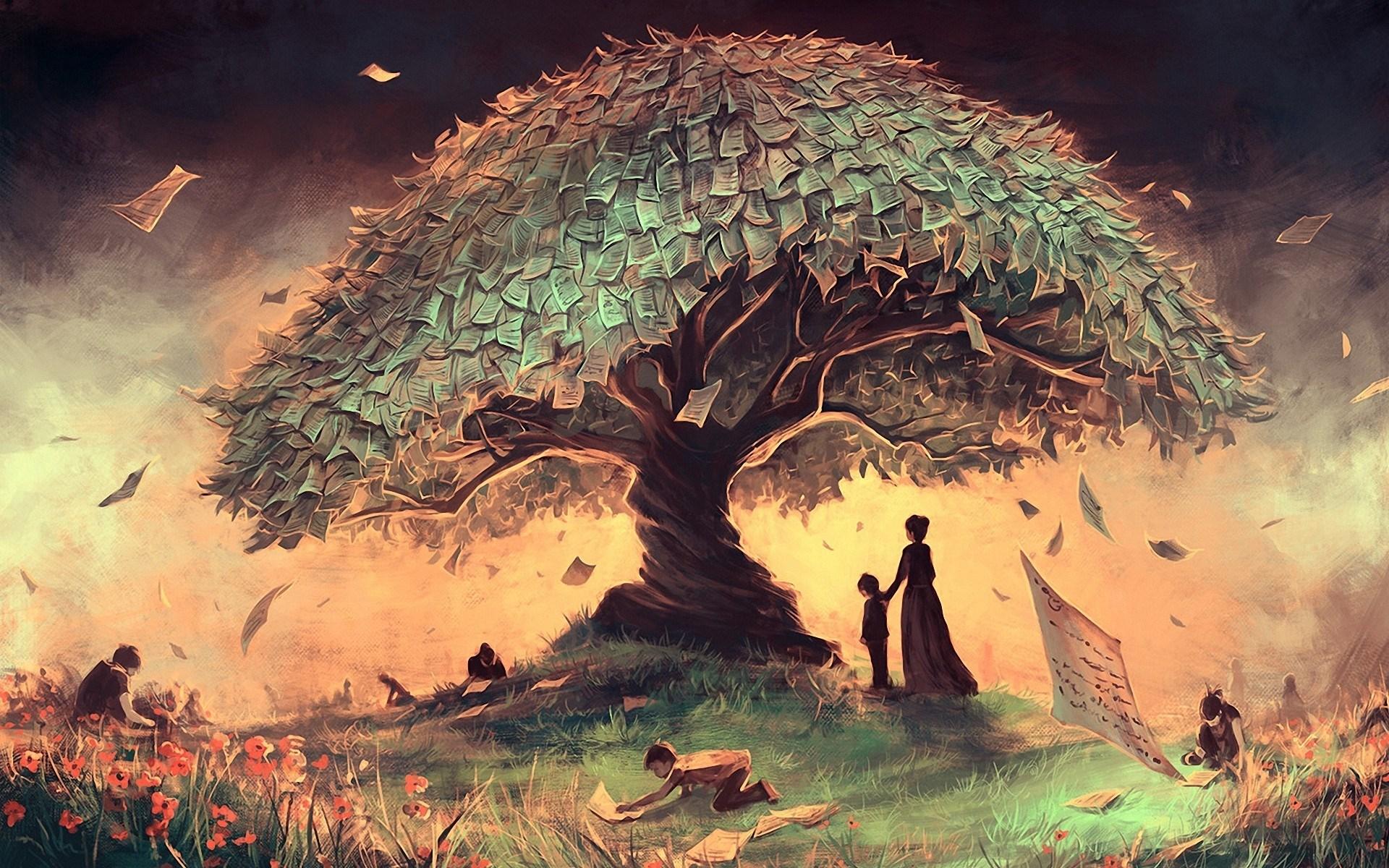 Tree landscape children