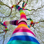 Street art yarn crochet
